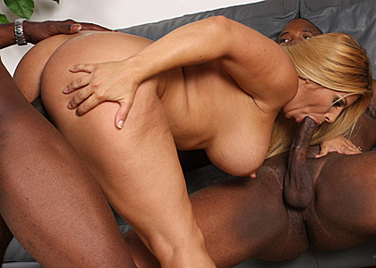 huge donged blacks sharing a hot big titted MILF called Friday from Blacks on Cougars