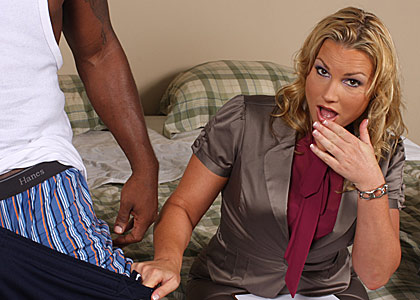 hot blonde MILF Flower Tucci does anal with big cocked blacks from Blacks on Cougars