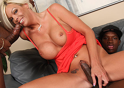 big boobed MILF Jordan Blue gets nailed by a big black dong from Blacks on Cougars