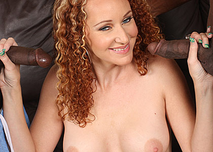 beautiful cougar Kitty Caulfield gets banged by two black guys from Blacks on Cougars