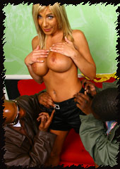 busty blonde Misty Vonage gets banged by big cocked blacks from Blacks on Cougars