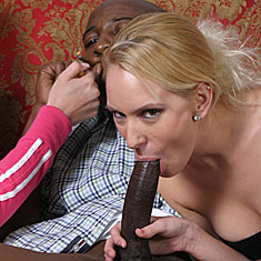 Katie Thomas and Erin Moore sharing a big black cock from Ruth BlackWell